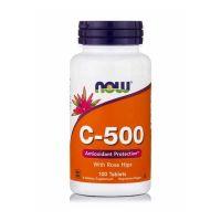 Now Foods C-500 Vitamin C με Καρπούς Άγριας Τριανταφυλλιάς Βραδείας Αποδέσμευσης 100 ταμπλέτες