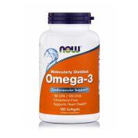 Now Foods Molecularly Distilled Omega-3 Λιπαρά Οξέα 100 Softgels