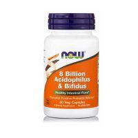 Now Foods 8 Billion Acidophilus & Bifidus Συμπλήρωμα Διατροφής για την Υγεία του Εντέρου 60 Veg Capsules