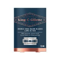 Gillette King • C • Double Edge Razor Blades Ανταλλακτικά Ξυράφια Διπλής Ακμής 10τμχ
