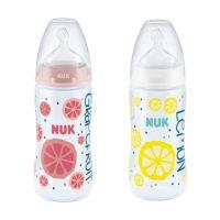 Nuk First Choice+ Fruits Πλαστικό Μπιμπερό Με Θηλή Σιλικόνης & Δείκτη Ελεγχου Θερμοκρασίας Μ 6-18m 300ml