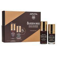 Apivita Queen Bee Set με Ορό Ολιστικής Αντιγήρανσης με Ελληνικό Βασιλικό Πολτό Σε Λιποσώματα 30ml & Δώρο Queen Bee Kρέμα Ματιών Ολιστικής Αντιγήρανσης 15ml