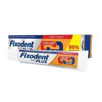 Fixodent Pro Plus Premium Στερεωτική Κρέμα Για Τεχνητές Οδοντοστοιχίες 60g + 20g επιπλέον Προϊόν