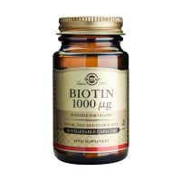 Solgar Biotin 1000mcg Βιταμίνες 50 Veg. Caps