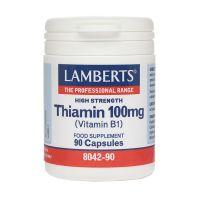 Lamberts Thiamin 100mg B1 90 κάψουλες