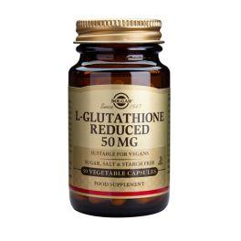 Solgar L-Glutathione Reduced 50mg Αμινοξέα 30 Veg. Caps