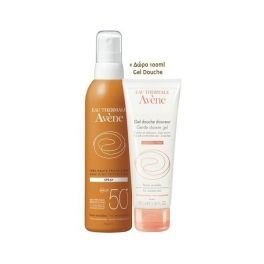 Avene Eau Thermale Very High Protection Spray Spf50 200ml & Eau Thermale Gentle Shower Gel 100ml