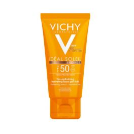 Vichy Ideal Soleil Bronze Αντηλιακό Ενυδατικό Τζελ Προσώπου Βελτιστοποίησης Μαυρίσματος Για Κανονικό/Ξηρό Δέρμα Spf50 50ml