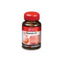 Lanes Vitamin D3 1000IU-25mg Υγεία Οστών, Δοντιών, Μυών 60 Ταμπλέτες