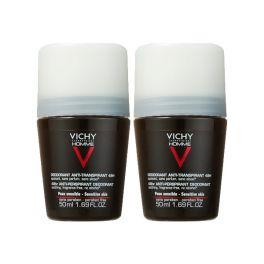 Vichy Homme Αποσμητικό Anti-Transpirant Roll-On 48h 50mlx2