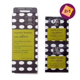 Apivita Express Beauty With Olive Κρέμα βαθιάς απολέπισης με ελιά 2x8ml 2+1