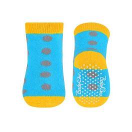 Babyono Αντιολισθητικά Καλτσάκια 6Μ+ Πορτοκαλί/Μωβ/Γαλάζιο