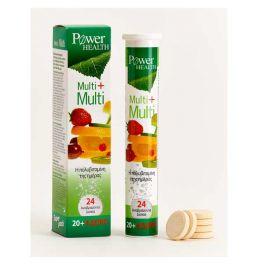 Power Health Multi+Multi Η Πολυβιταμίνη Της Ημέρας Με Στέβια 20 & Δώρο 4 Αναβράζοντα Δισκία