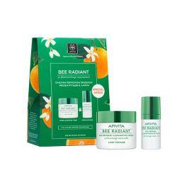 Apivita Bee Radiant Pack Με Κρέμα Ελαφριάς Υφής Για Λιπαρό/Μικτό Δέρμα 50ml & Κρέμα Ματιών 15ml