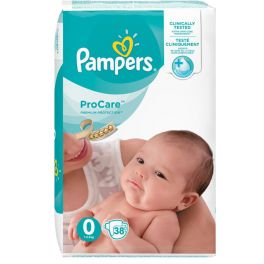 Pampers ProCare Premium Protection Πάνες 0 (1-2.5kg) 38τμχ