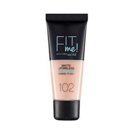 Maybelline Fit Me! Make Up Για Κανονικό/Λιπαρό Δέρμα 102 Fair Ivory 30ml