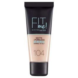 Maybelline Fit Me! Make Up Για Κανονικό/Λιπαρό Δέρμα 104 Soft Ivory 30ml