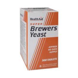 Health Aid Super Brewers Yeast Μαγιά Μπύρας 500 Ταμπλέτες