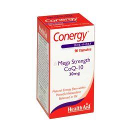 Health Aid Conergy Mega Strength CoQ-10 30mg 90 Κάψουλες
