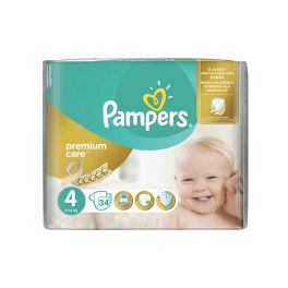 Pampers Premium Care Πάνες No4 8-14kg 34τμχ