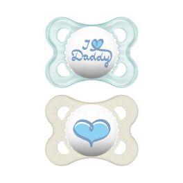 Mam I Love Mummy & Daddy Πιπίλα Σιλικόνης 0-6m 2τμχ