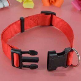 Pet Ρυθμιζόμενο Κολάρο Σκύλου M 1.5cm*23-37cm Κόκκινο