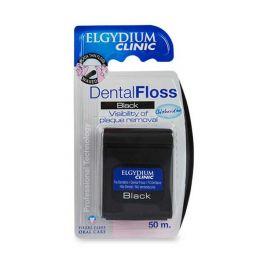 Elgydium Clinic Black Μαύρο Οδοντικό Νήμα Με Χλωρεξιδίνη 50m