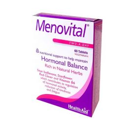 Health Aid Menovital Για Την Εμμηνόπαυση Vegeterian 60 Ταμπλέτες