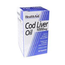 Health Aid Cod Liver Oil 1000mg Μουρουνέλαιο 30 Κάψουλες
