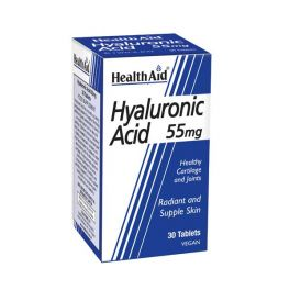 Health Aid Hyaluronic Acid 55mg Vegan 30 Ταμπλέτες
