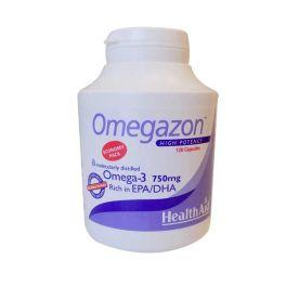 Health Aid Omegazon Omega-3 750mg Συμπυκνωμένα Ιχθυέλαια 1250mg 120 Κάψουλες