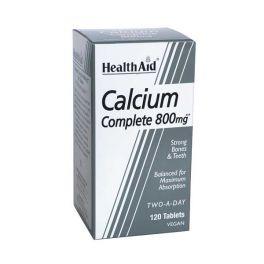 Health Aid Calcium Complete 800mg Ασβέστιο Για Δυνατά Οστά & Δόντια Vegan 120 Ταμπλέτες