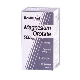Health Aid Magnesium Orotate 500mg Vegan 30 Ταμπλέτες