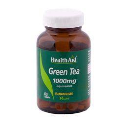 Health Aid Green Tea 1000mg Για Δίαιτα & Αδυνάτισμα Vegan 60 Ταμπλέτες