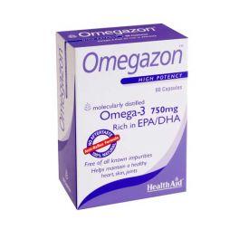 Health Aid Omegazon Ω3 Λιπαρά Οξέα 60 Κάψουλες