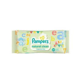 Pampers Natural Clean Μωρομάντηλα Χωρίς Άρωμα 64τμχ