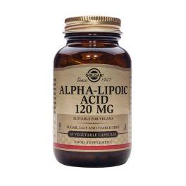 Solgar Alpha-Lipoic Acid 120mg Αντιοξειδωτικά 60 Veg. Caps