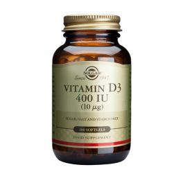 Solgar Vitamin D3 400IU 10mcg Βιταμίνες 100 Softgels