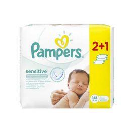 Pampers Sensitive Μωρομάντηλα 56τμχ 2+1 Δώρο