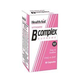 Health Aid Vitamin B Complex Supreme Για Μεταβολισμό, Νευρικό & Ανοσοποιητικό Σύστημα 90 Κάψουλες