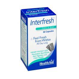 Health Aid Interfresh Εξουδετερώνει Την Κακοσμία Του Πεπτικού 60 Κάψουλες