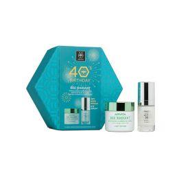 Apivita 40's Set Με Bee Radiant Κρέμα Προσώπου Ελαφριάς Υφής Αντιγήρανσης & Λάμψης 50ml & Δώρο 5-Action Ορός Εντατικής Φροντίδας Ματιών 15ml