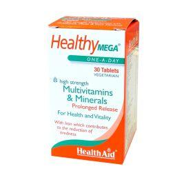 Health Aid Healthy Mega Πολυβιταμίνες & Μέταλλα 30 Ταμπλέτες