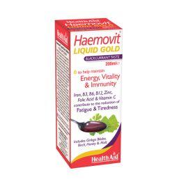 Health Aid Haemovit Liquid Gold Σιρόπι Με Γεύση Φραγκοστάφυλλου Με Βιταμίνες, Μέταλλα & Βότανα 200ml