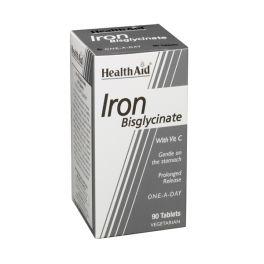Health Aid Iron Bisglycinate Σίδηρος Με Vitamin C 90 Ταμπλέτες