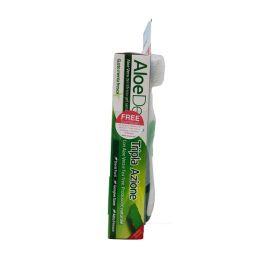 Optima Aloe Dent Set Με Οδοντόκρεμα Με Aloe Vera & Ενεργό Άνθρακα 100ml & Δώρο Οδοντόβουρτσα