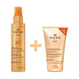 Nuxe Sun Set Με Αντηλιακό Γαλάκτωμα Σπρέι Προσώπου/Σώματος Spf20 150ml & Δώρο After Sun Γαλάκτωμα Προσώπου/Σώματος 100ml