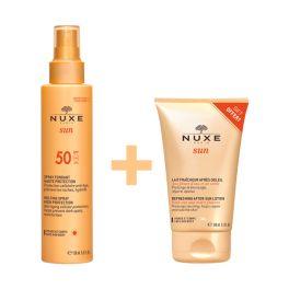 Nuxe Sun Set Με Αντηλιακό Spray Προσώπου/Σώματος Spf50 150ml & Δώρο After Sun Γαλάκτωμα Προσώπου/Σώματος 100ml