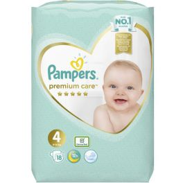 Pampers Premium Care Πάνες No4 9-14kg 18τμχ