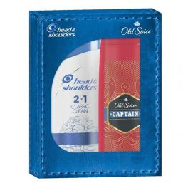 Head & Shoulders Set Ανδρικής Περιποίησης Με Αντιπυτιριδικό Σαμπουάν Classic Clean 2 Σε 1 360ml & Old Spice Captain Αφρόλουτρο Για Σώμα & Μαλλιά 250ml